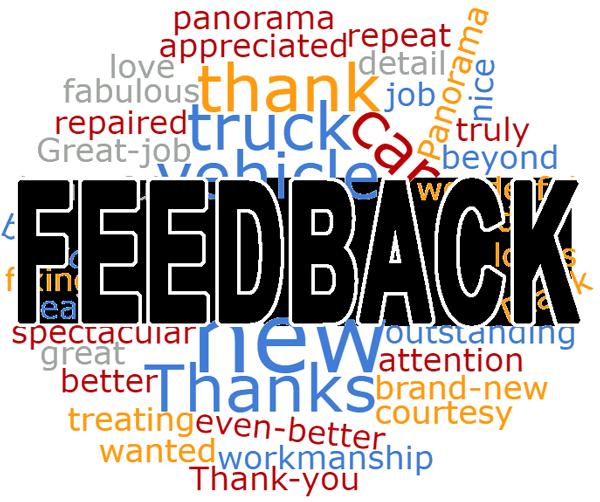 cluster of words behind the word feedback